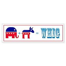 Whig Math Bumper Bumper Sticker