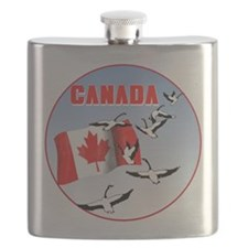Canada Geese Flask