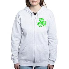 irish clover5 Zip Hoodie