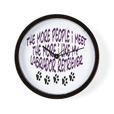 I like my Labrador Retriever Wall Clock