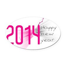 happy new year 2014 Oval Car Magnet