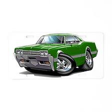 1966 Olds Cutlass Green Car Aluminum License Plate