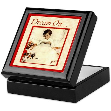 Dream On ...Bookplate Storage Box Keepsake Box