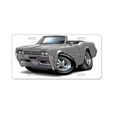 1966 Olds Cutlass Grey Conv Aluminum License Plate