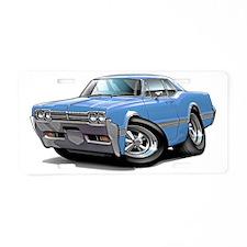 1966 Olds Cutlass Lt Blue C Aluminum License Plate