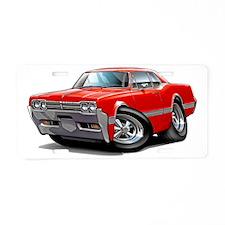 1966 Olds Cutlass Red Car Aluminum License Plate
