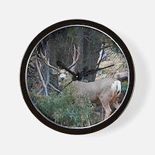 Mule deer spur buck Wall Clock