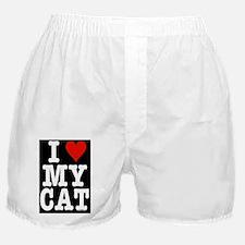 HeartCatLgFrPrint14x10 Boxer Shorts