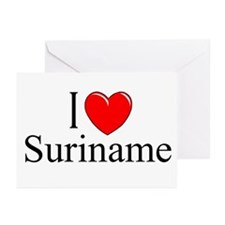 """""""I Love Suriname"""" Greeting Cards (Pk of 10)"""