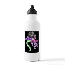 mardi gras designbutto Water Bottle