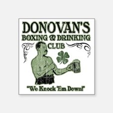 "donovans club Square Sticker 3"" x 3"""