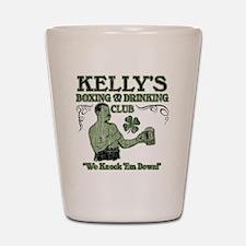 kellys club Shot Glass