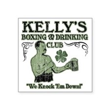 "kellys club Square Sticker 3"" x 3"""