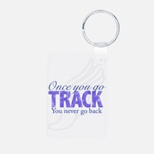 2-once_you_go_track_purple Keychains