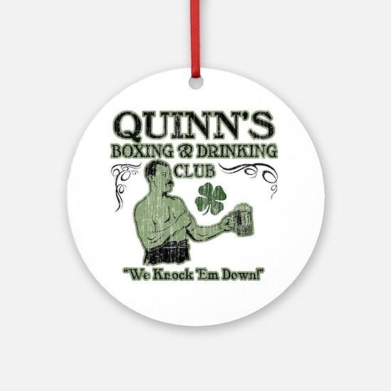 quinns club Round Ornament