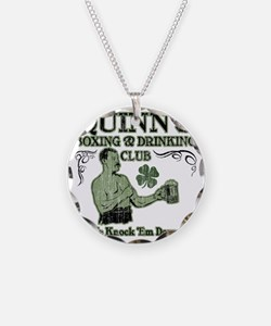 quinns club Necklace Circle Charm