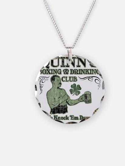 quinns club Necklace Circle Charm