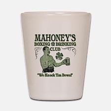 mahoneys club Shot Glass