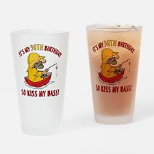 kissmybass30 Drinking Glass