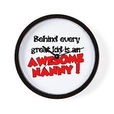 Cute Nanny Wall Clock