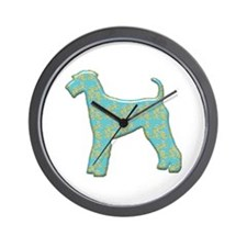 Paisley Airedale Wall Clock
