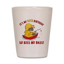 kissmybass50 Shot Glass