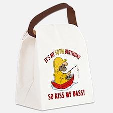 kissmybass50 Canvas Lunch Bag