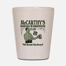 mccarthys club Shot Glass
