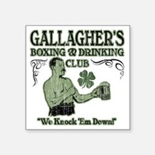 "gallaghers club Square Sticker 3"" x 3"""