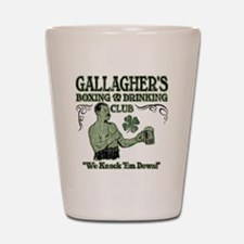 gallaghers club Shot Glass