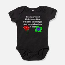 Cute And Single Godmother Poem Baby Bodysuit