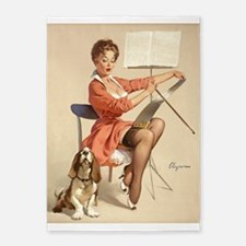 Pin Up Girl, Musical Duet, Vintage Poster 5'X7'are