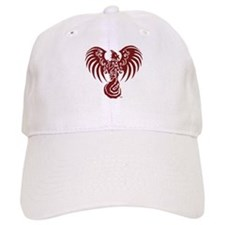 Large Red Phoenix Logo Baseball Hat