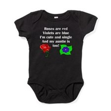 Cute And Single Auntie Poem Baby Bodysuit