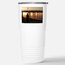 Photographer At Sunset Travel Mug