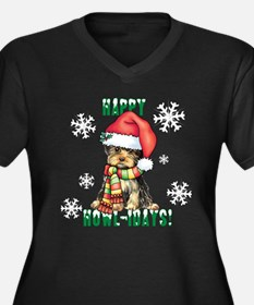 Holiday Yorkie Plus Size T-Shirt