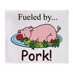 Fueled by Pork Throw Blanket
