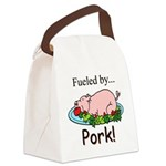 Fueled by Pork Canvas Lunch Bag