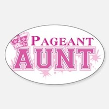 Pageant_auntbk Sticker (Oval)