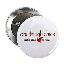 "One Tough Chick Heart Disease 2.25"" Button"