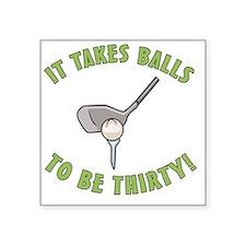 """balls30 Square Sticker 3"""" x 3"""""""