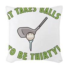 balls30 Woven Throw Pillow
