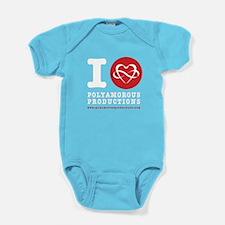 I HEART POLYART Baby Bodysuit