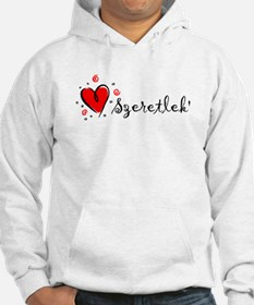 """I Love You"" [Hungarian] Hoodie"
