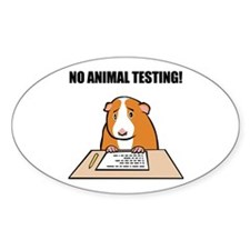 No Animal Testing! Oval Decal
