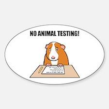 No Animal Testing! Oval Decal