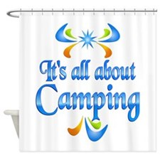 About Camping Shower Curtain