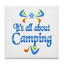 About Camping Tile Coaster