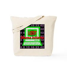 LOST_PC_dharma_initiative_black Tote Bag