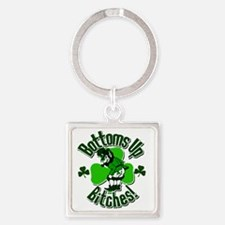 bottomupb Square Keychain